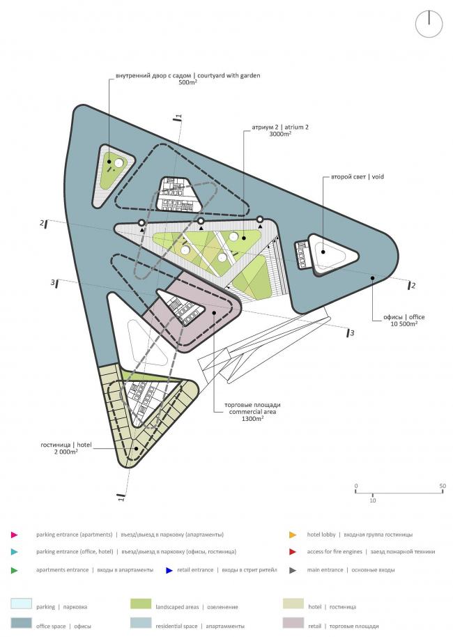 М-Сити. План 2-го этажа © ТПО «Резерв» & MVSA