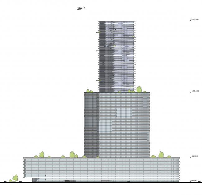 М-Сити. Фасад © ТПО «Резерв» & MVSA