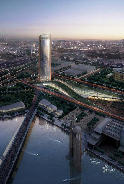Сезар Пелли. Башня Пуэрто Триана. Проект