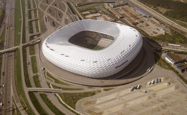 Стадион «Альянц». Фото: Maximilian Dörrbecker via Wikimedia Commons. Лицензия CC BY-SA 2.5