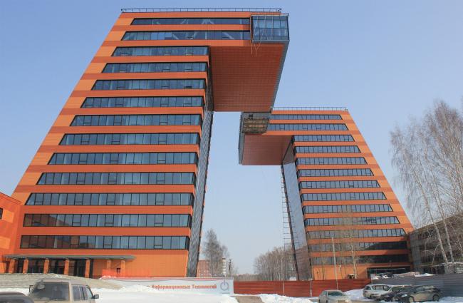 ИКТ-кластер Академпарка Центр Информационных Технологий (ЦИТ) 1-я очередь, концепция, эскизный проект – компания «Space-Construction», генпроектировщик – «Сибирский проектный институт».