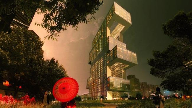 Башня Project R6 © REX