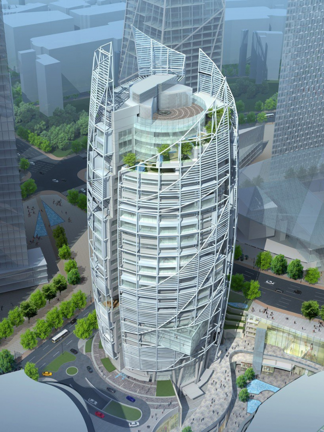 Башня YIBD block C1-20 © Tange Associates