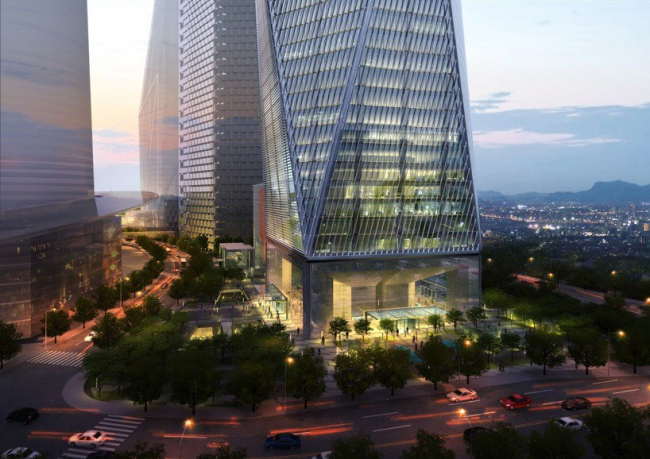 Башня Diagonal Tower © SOM