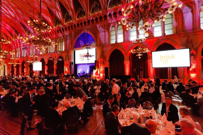 Церемония награждения в зале венской ратуши.