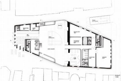 NL Architects. Гронингенский Форум. Проект. План первого этажа