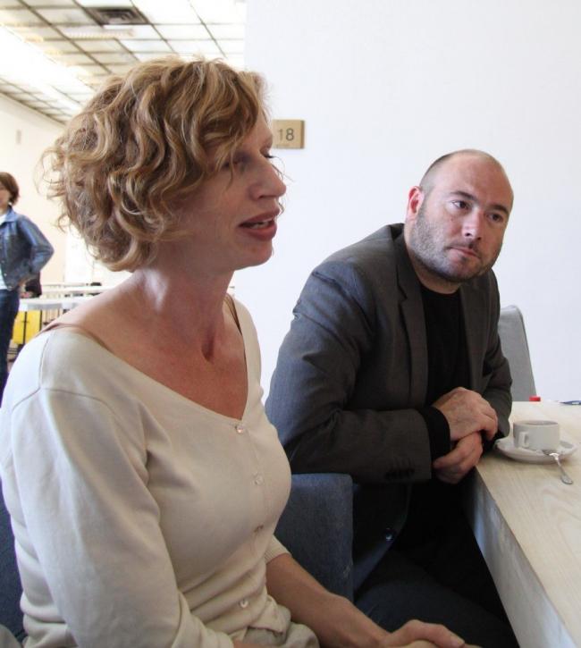 Хеге Эриксон и Андреас Берман. Фото Ole Jakob Skåtun/Ambassaden