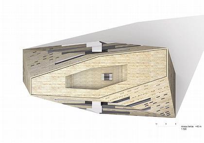 NL Architects. Гронингенский Форум. Проект. Вид сверху