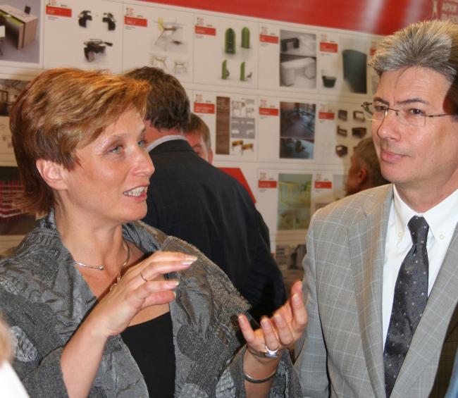 Регина Черепкова (генеральный директор фабрики LEPOTA) и Борис Левянт (АБ «ABD architects»)