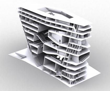 NL Architects. Гронингенский Форум. Проект
