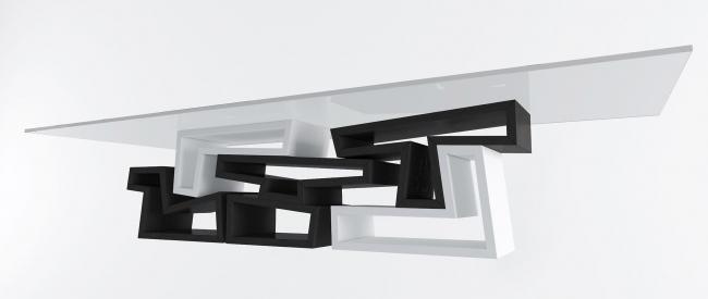 Вариант стола «0-24» со стеклянной столешницей