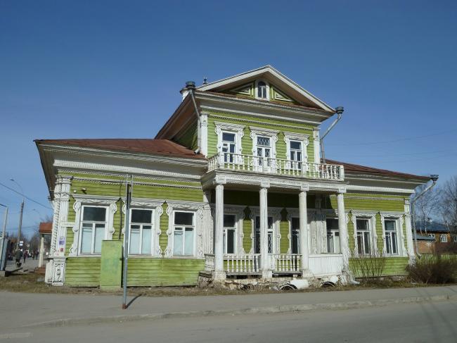 Дом Засецких. Самый старый деревянный особняк в Вологде. 1790-е.