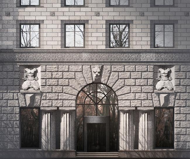 Портал входа в жилые апартаменты