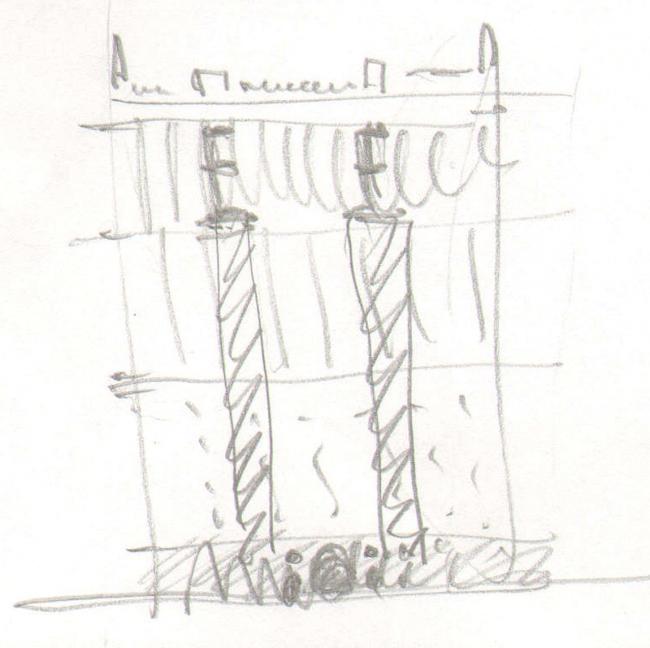Первоначальный эскиз фасада