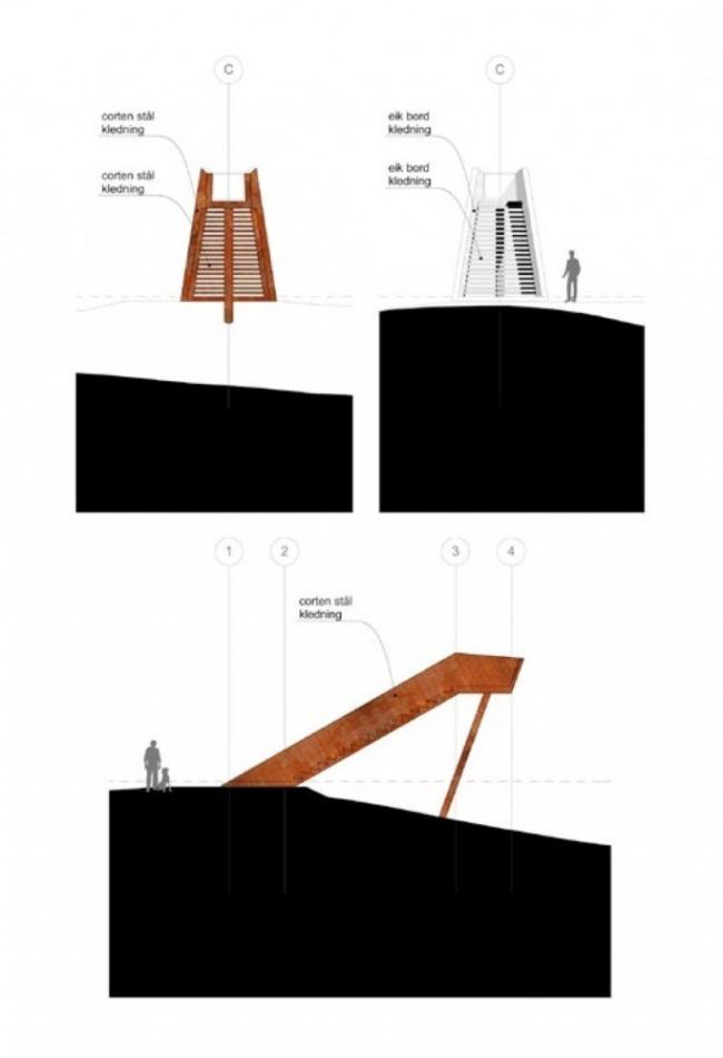 Смотровая платформа «Лесная лестница» в Стокке © Saunders Architecture