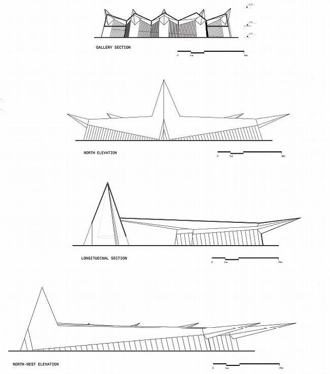 Биеннале-парк Абу-Даби. Концепт-проект павильона №1. Фасады. Юрий Аввакумов & Андрей Савин
