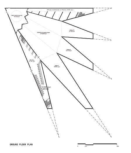 Биеннале-парк Абу-Даби. Концепт-проект павильона №1. План. Юрий Аввакумов & Андрей Савин