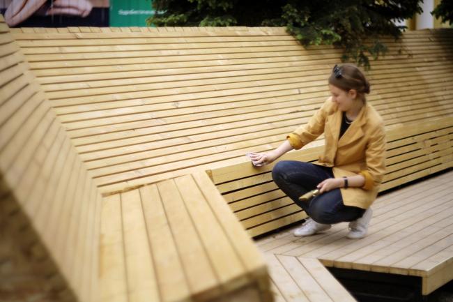 Треугольный сад – новый «уличный зал» вологодского Политеха (куратор проекта – Вера Смирнова). Фото: Алексей Курбатов