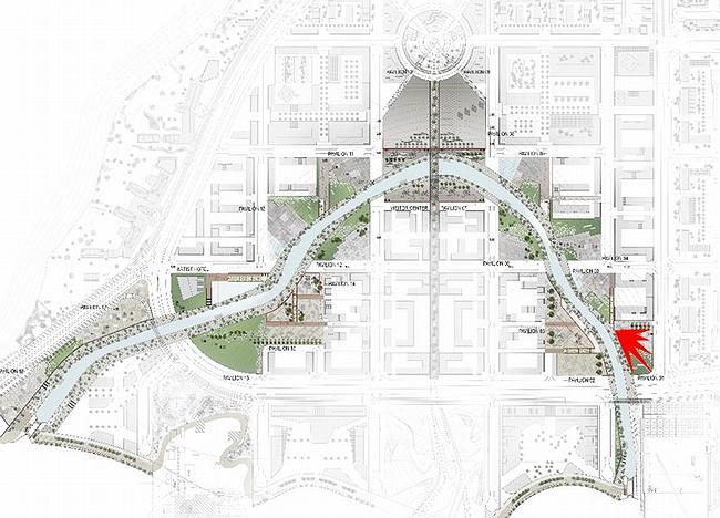 Биеннале-парк Абу-Даби. Генплан