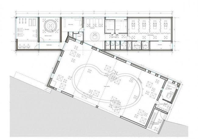 Отель Castell dels Hams © A2arquitectos