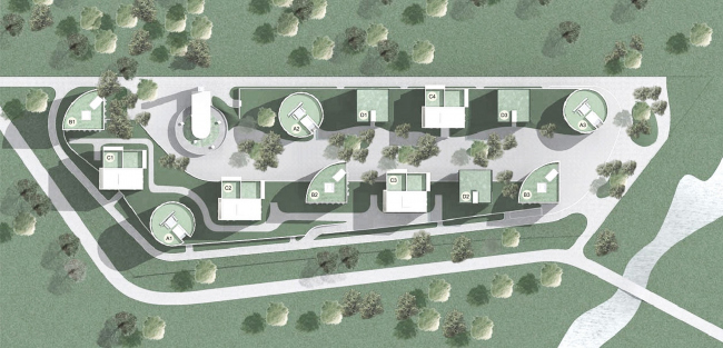 Клубный квартал «Грюнвальд». Генеральный план. Проект, 2004 © SPEECH, АБ «Остоженка», Проект Меганом