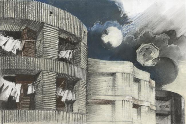 Клубный квартал «Грюнвальд». Рисунок. Постройка, 2011 © SPEECH, АБ «Остоженка», Проект Меганом