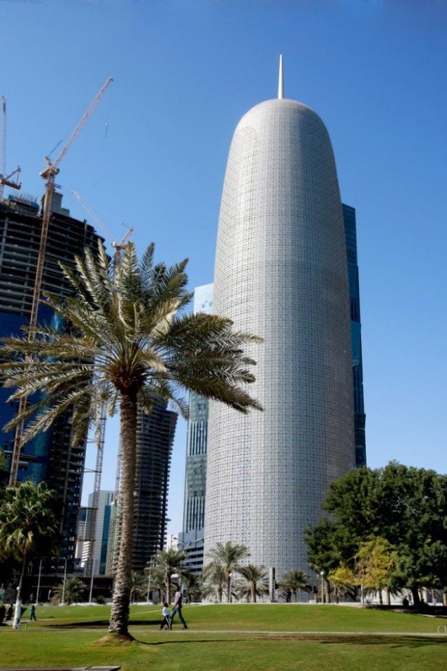 Небоскреб Doha Tower © Ateliers Jean Nouvel