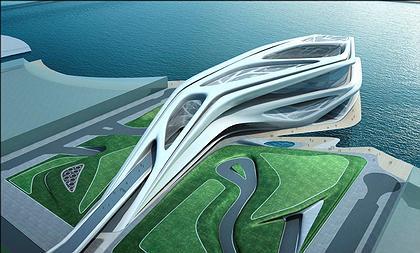 Заха Хадид. Центр исполнительских искусств в ансамбле острова Саадийат. Абу-Даби. Проект