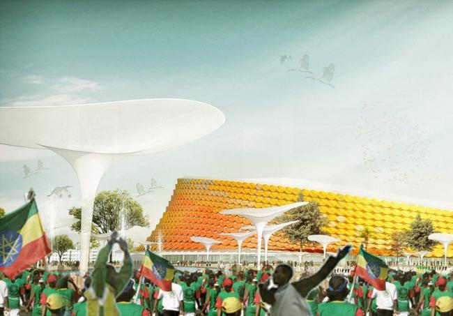 Национальный стадион и Спортивная деревня в Аддис-Абебе © LAVA