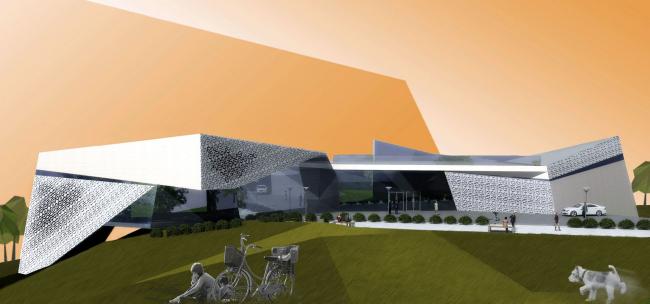 Многоцелевой общественный центр на острове Сахалин © Архитектурная мастерская «Группа АБВ»
