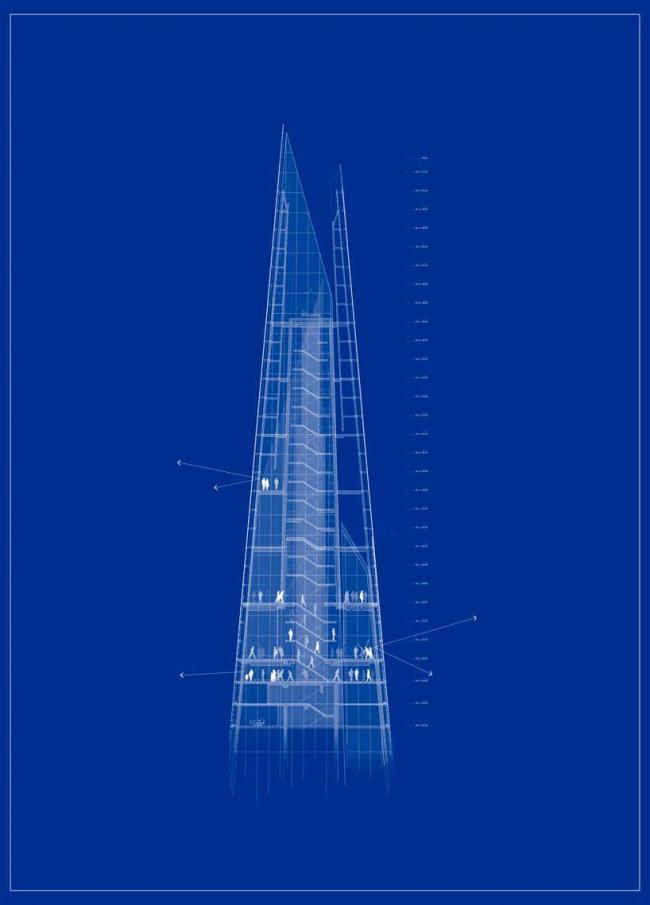 Башня The Shard © RPBW