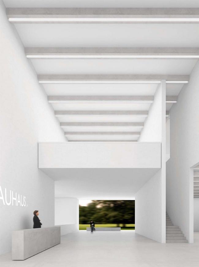 Музей Баухауса в Веймаре. Вестибюль © Heike Hanada / Benedict Tonon