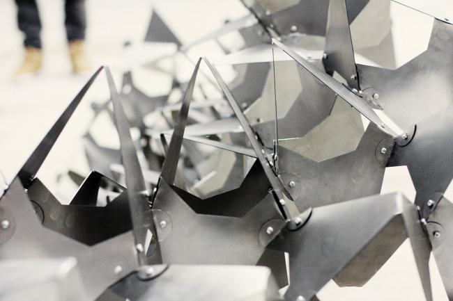 Инсталляция на воркшопе «Точки ветвления» в рамках фестиваля «Белая Башня 2011», Екатеринбург