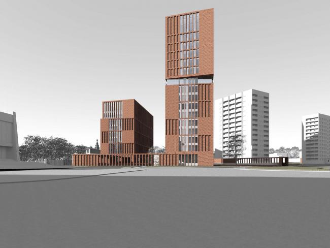 Предпроектное предложение строительства жилого комплекса на Новоалексеевской улице в Москве © Сергей Скуратов ARCHITECTS
