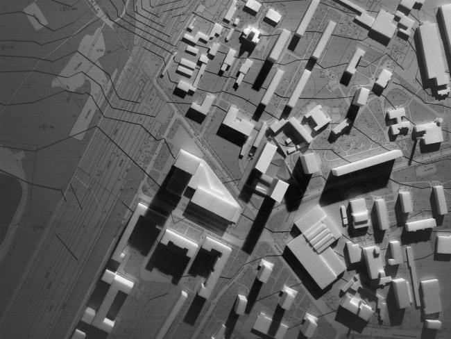 Предпроектное предложение строительства жилого комплекса на Новоалексеевской улице в Москве. Фотография макета © Сергей Скуратов ARCHITECTS