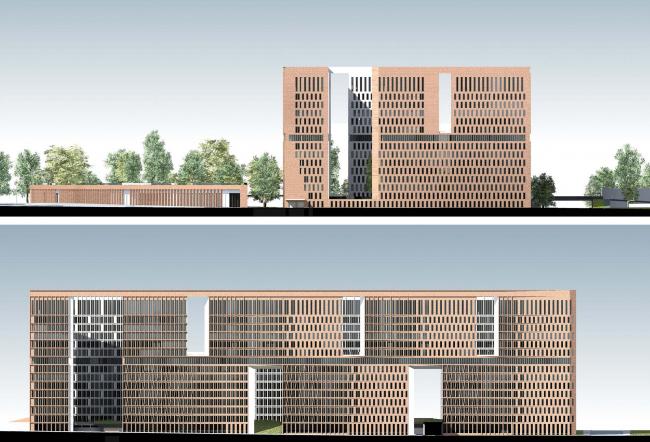 Многофункциональный жилой комплекс «Преображенский форт». Фасады © Сергей Скуратов ARCHITECTS