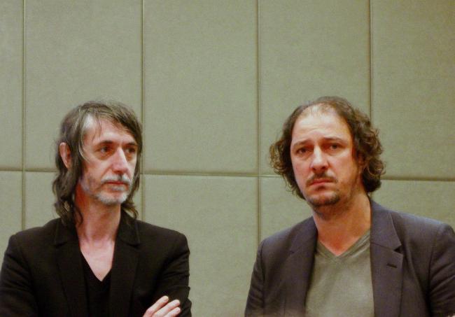 Французские архитекторы компании L'AUC перед презентацией своего проекта.