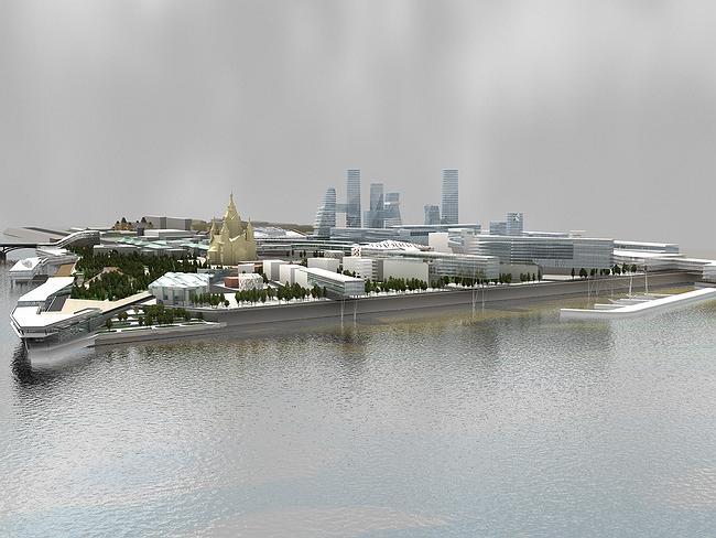 Торгово-деловой комплекс на Стрелке в г. Нижний Новгород © ПТАМ Виссарионова