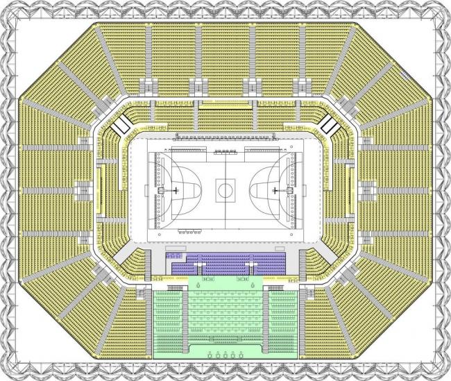 Лондонский Олимпийский баскетбольный стадион ©  Wilkinson Eyre Architects