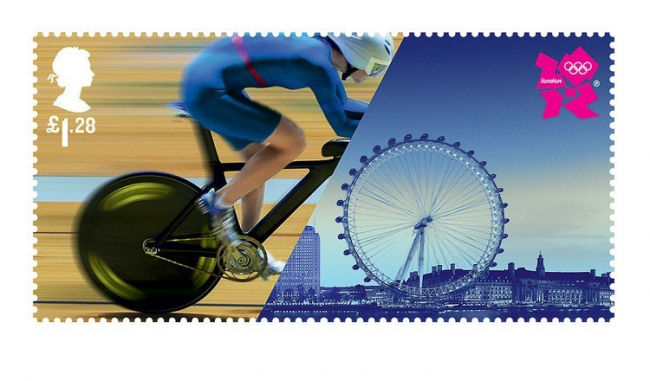 Марки Royal Mail Олимпийской серии. Изображение с сайта fastcodesign.com