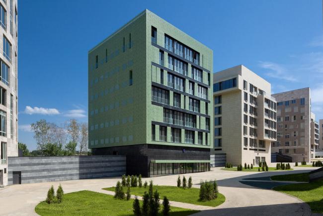 Клубный квартал «Грюнвальд». Дом «Вуаль». Постройка, 2011 © SPEECH, АБ «Остоженка», Проект Меганом