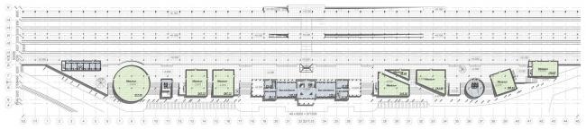 План на отметке 0.000. Вокзальный комплекс в г. Туапсе