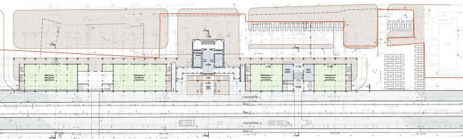 План первого этажа. Вокзальный комплекс в пос. Лазаревское