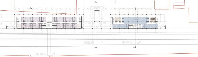План второго этажа. Вокзальный комплекс в пос. Лазаревское