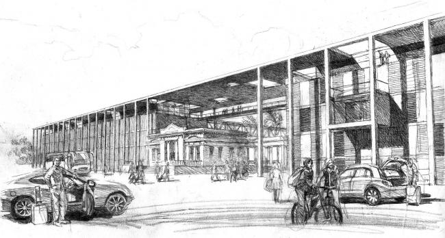 Вокзальный комплекс в пос. Лазаревское