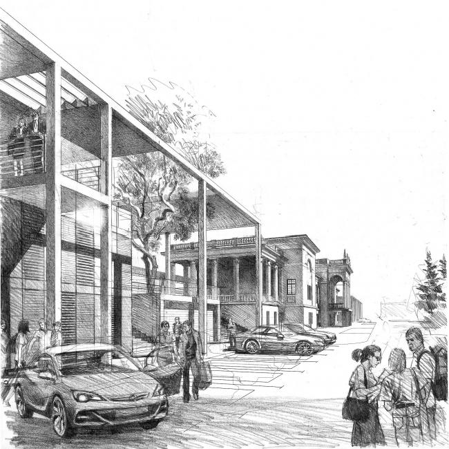 Вокзальный комплекс в г. Туапсе © Архитектурное бюро «Студия 44»