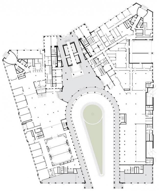 Башня Tower 185 © Prof. Christoph Mäckler Architekten