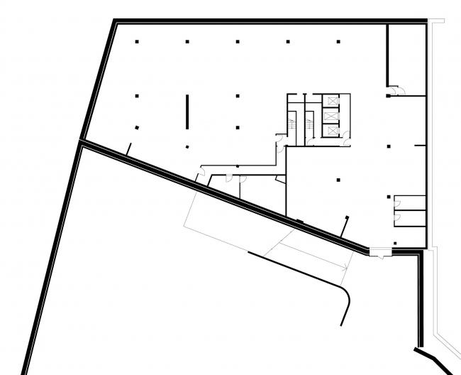 Офисное здание в Бутиковском переулке. План -2 этажа © АБ Остоженка