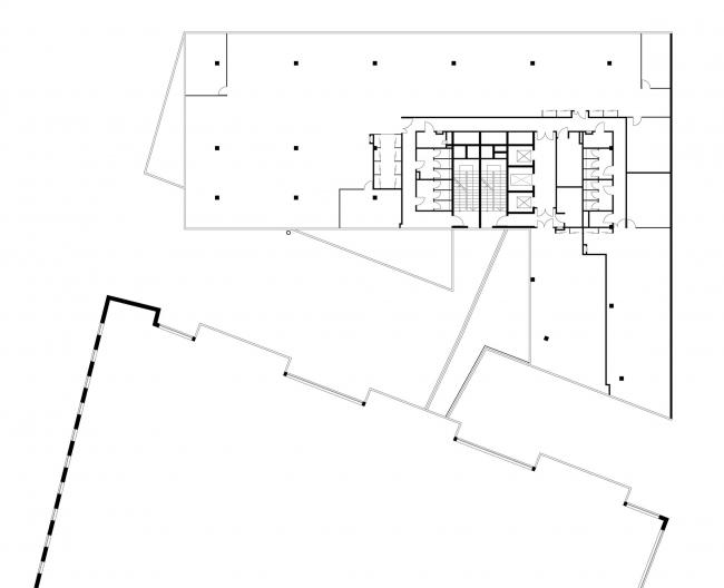 Офисное здание в Бутиковском переулке. План 4 этажа © АБ Остоженка