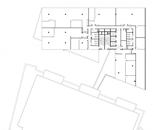 Офисное здание в Бутиковском переулке. План 5 этажа © АБ Остоженка